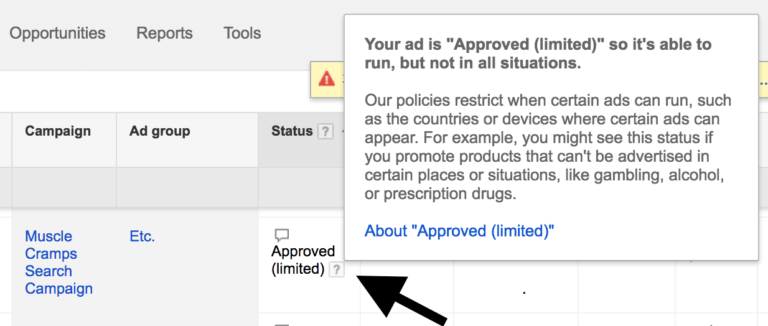 Ad Approval Status