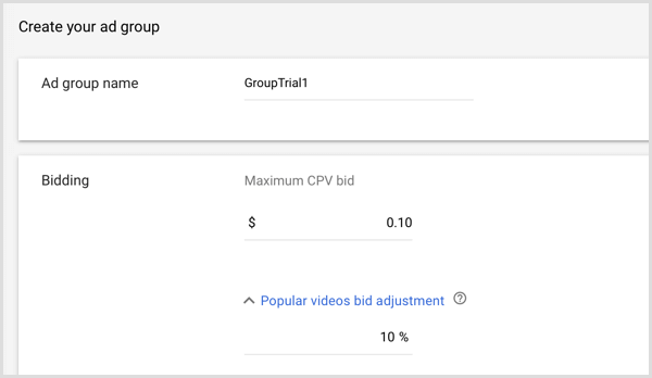 google adwords create ad group